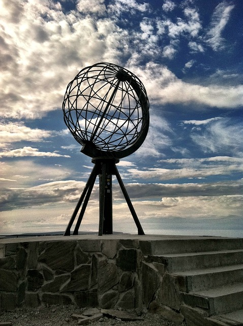 The famous North Cape globe