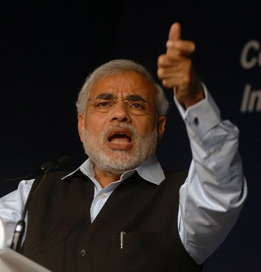 Narendra Modi (Norbert Schiller, Copyright: World Economic Forum). Creative Commons Attribution-Share Alike 2.0 Generic.
