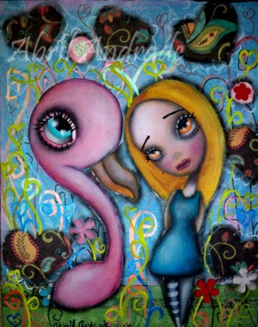 """""""Alice and Flamingo"""" by Abril Andrade Griffith"""