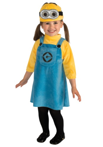 Toddler Girls Minion Costume - $19.99 Complete costume even includes the tights.  Available at