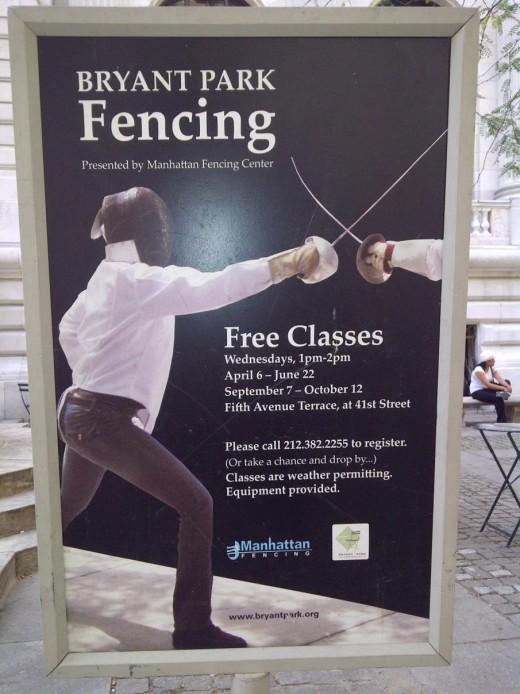 Free fencing. I'm not making up.