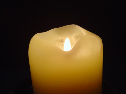 "This is what a candle looks like before it is ""hugged""."