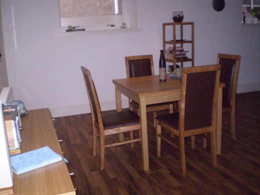 dining area of a self contained unit in Inverness