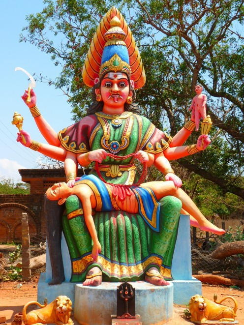 Goddess Durga is the primary deity in Dussera festival