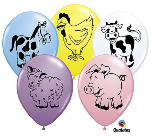 Farm Animals Barnyard Balloons!
