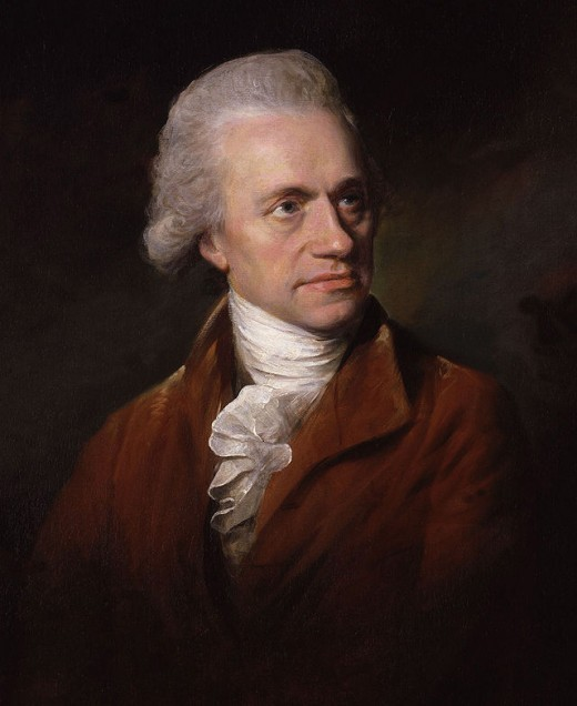 Portrait of William Herschel, the German-born scientist who discovered Uranus.  His interest in astronomy began in 1773, and after making his first bigger telescope in 1774, he studied the sky thoroughly for nine years.