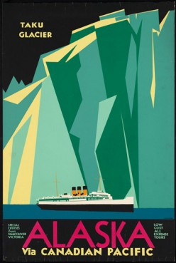 free cross stitch pattern Alaska cruise