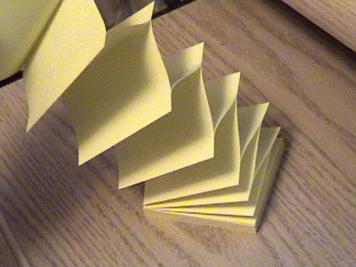 Stack of post-it notes