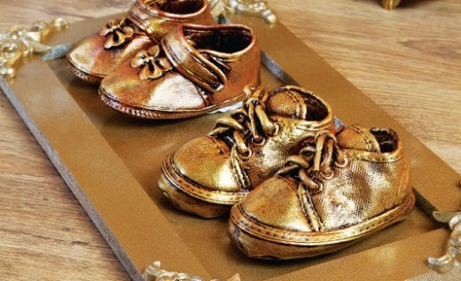 Baby Keepsake Bronze Shoes