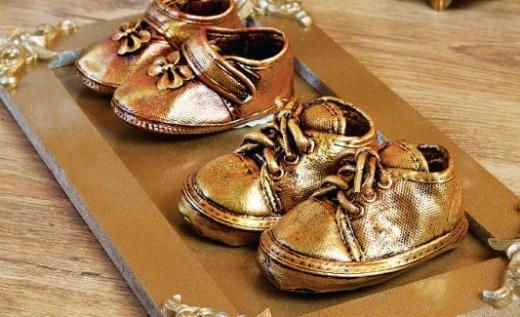 Baby Keepsake Bronze Shoes