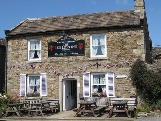 The Red Lion inn, Langthwaite, a welcome refuge along Arkengarthdale, time to slake your thirst with Black Sheep Ale