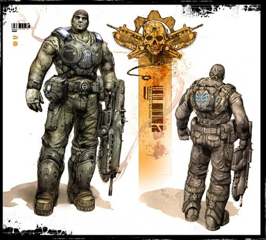 Gears of War 3 - Marcus concept art.