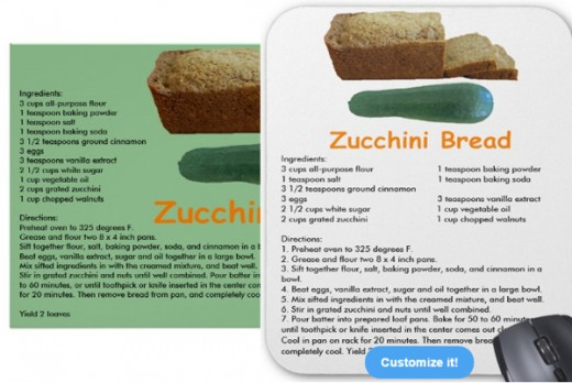 Type in recipes when on Sandyspider Gifts - Zazzle (more clear on the items on Zazzle)
