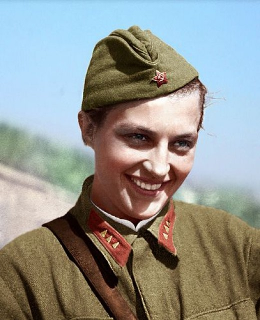 Lyudmila Pavilchenko  was a  Soviet sniper with 309 confirmed kills during WW2. The Eastern Front was one of the most violent conflicts of the 20th century.