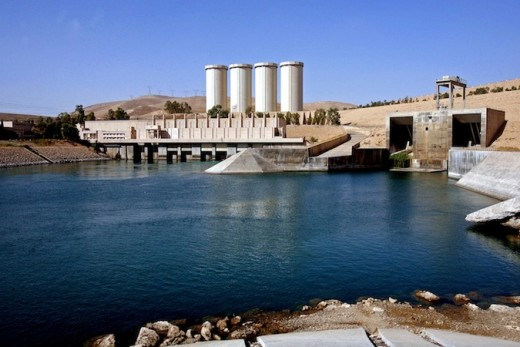The Mosul Dam is considered a major strategic location.  It's recapture from IS was one of the groups first major defeats.