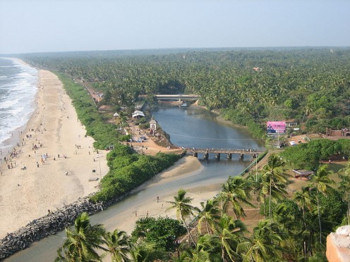 A spectacular view of the Payyambalam Backwater
