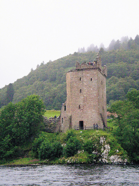 Castle Urquhart, on the banks of Loch Ness