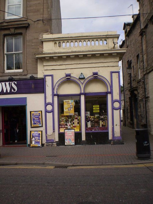 the smallest shop in Nairn - well it seemed that way to me