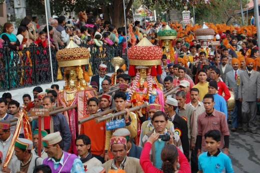 The Procession pf deities in Minjar Fair.