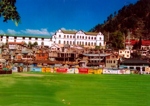 The Chamba Town, the palace in the background and the venue of the fair in the foreground