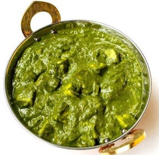 Palak Paneer(Spinach Cottage Cheese)
