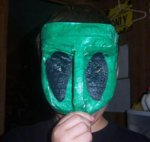 Painted and eyes cut out