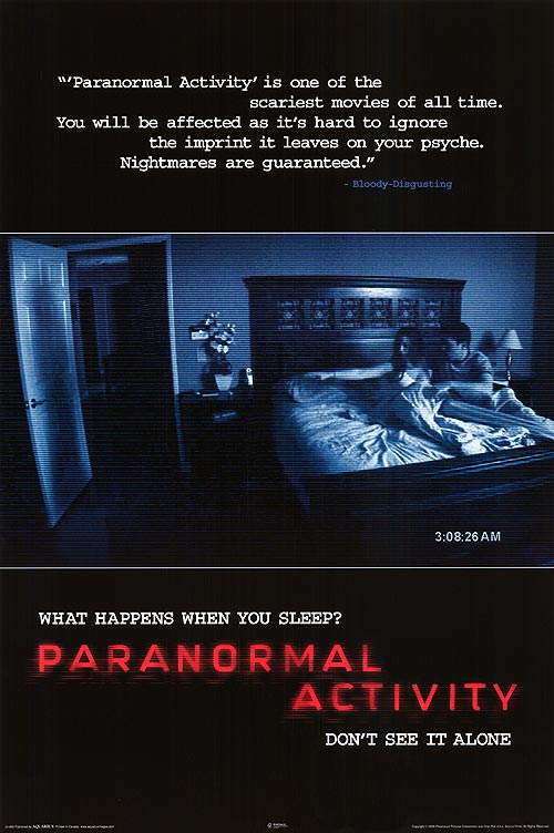 The Movie Poster for Paranormal Activity