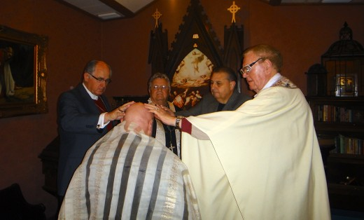 Consecration of the author into the office of bishop.