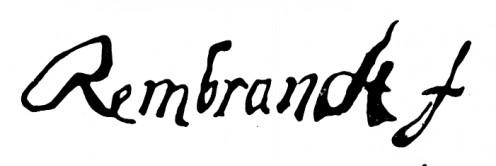 Signature of Rembrandt Harmenszoon van Rijn 1606
