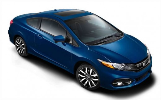 2015 Honda Civic Coupe Blue