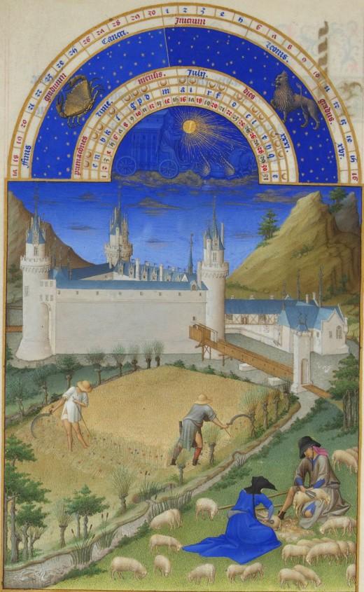 Les Très Riches Heures du Duc de Berry - Juillet by the Limbourg Brothers