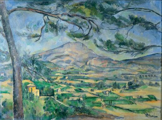 Mont Sainte-Victoire (1887) Paul Cézanne [Public domain]