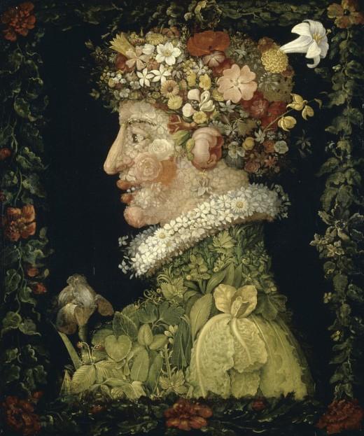 Spring (1573) by Giuseppe Arcimboldo