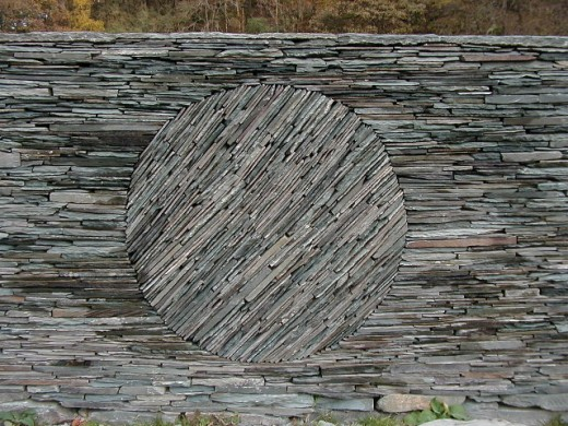 Not an ordinary sheepfold! Sheepfold, High Tilberthwaite, nr Coniston, Cumbria - by Andy Goldsworthy