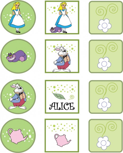 alice in wonderland printable pictures