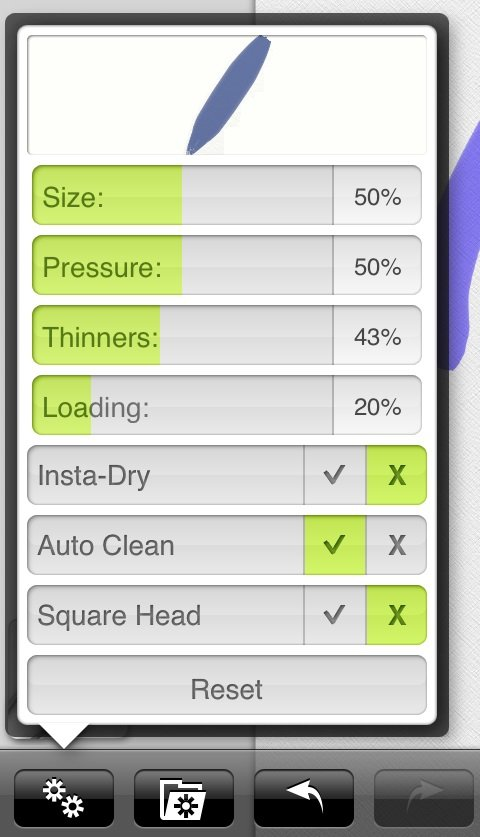 The Settings for the Oil Brush