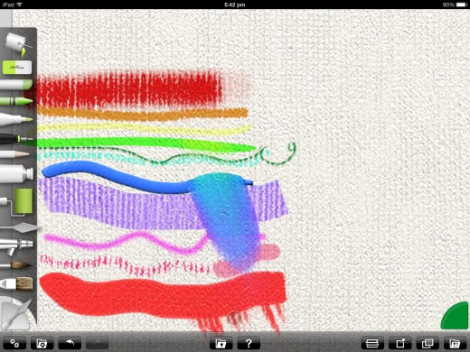 The tools in ArtRage for iPad!