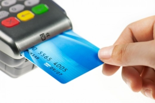 Using credit card to buy goods