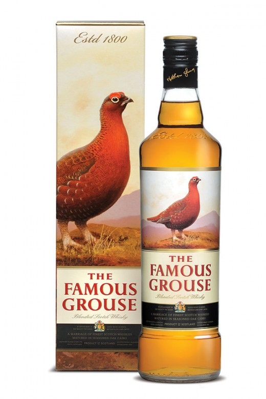 The Famous Grouse, a blend with a big and rich flavour.  Production was started in 1897 by Matthew Gloag