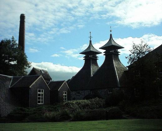 The Strathisla distillery in Scotland.  The  Strathisla Single Malt is one of the malt whiskies used in the Chivas Regal blend.