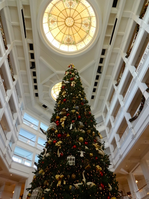 The 45-foot-tall Holiday Tree in the Lobby of Disney's Grand Floridian Hotel!