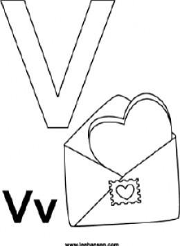 Letter V Coloring Page