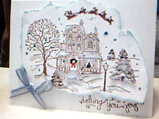 "Stamped Card Showing ""White Christmas"""