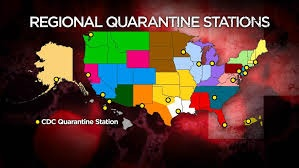 Regional quarantine stations in the United States for the Center for Disease Control and Prevention, depending on geographic location.