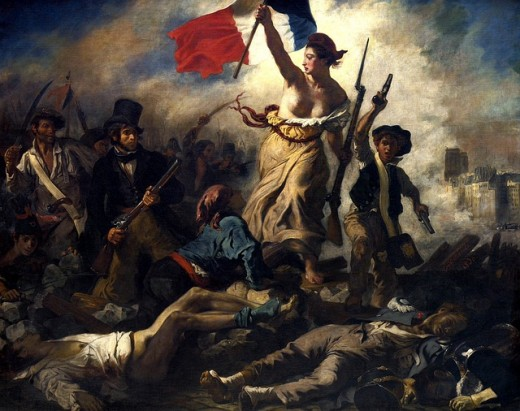 Painting of the French Revolution.  Revolutionary wars are still commonplace around the world, often beginning with popular discontent and peaceful protests, but dissolving into violence.