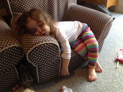 Warning!  Design crews may need a nap during your snow globe project, being creative and cute can be exhausting! Meet my granddaughter, we had a great time!