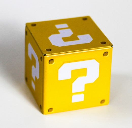 Question mark cube