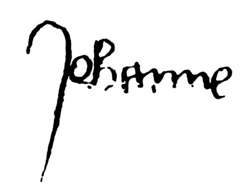 Signature of Joan