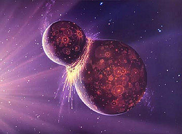 Was our Moon the result of an ancient collision in our solar system from a previous passage of Nibiru Planet X?