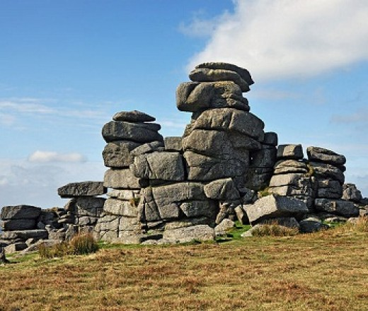 These impressive rocks stand on Great Staple Tor, Dartmoor.